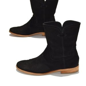 Anthropologie Splendid Black Suede Booties Size 8